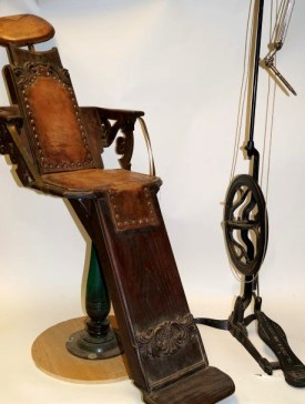 The dental chair Doc Holliday used in Las Vegas, N.M., recently sold at auction for $40,000.