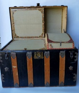 A trunk that once belonged to Mattie Blaylock, Wyatt's common-law wife.