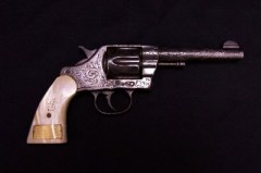 This gun was a gift to Wyatt Earp from the Citizens Committee of Nome, Alaska.