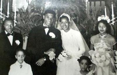Medgar and Myrlie Evers on their wedding day
