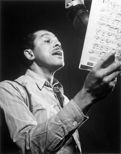 Photo of Cab Calloway taken by William P. Gottlieb in 1947, now in the Library of Congress.