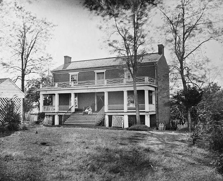 Wilmer McLean's house in Appomattox Court House, Virginia, was the site of Lee's meeting with Grant to negotiate the Army of Northern Virginia's surrender to the Union Army. The great Civil War photographer Timothy O'Sullivan took this photo in April 1865; it's now in the Library of Congress' Prints and Photographs Division.