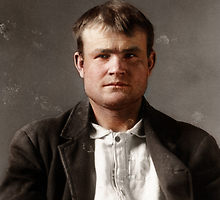 A photo of Butch Cassidy colorized by Mads Madsen