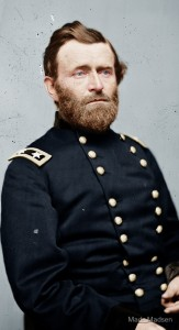 Photo of Ulysses Grant, colorized by Mads Madsen